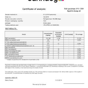 Olej CBD 15% (1500mg) – Cannaby Terpen