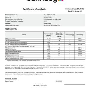 Olej CBD 5% (500mg) – Cannaby Terpen